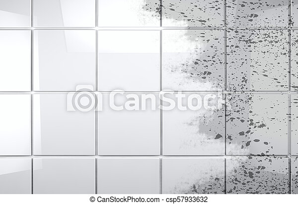 Clean Tile Wall Bathroom Background Background Cleaning Concept And