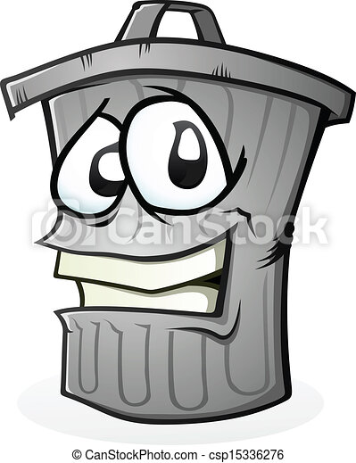 clean trash can cartoon character a smiling trash can cartoon
