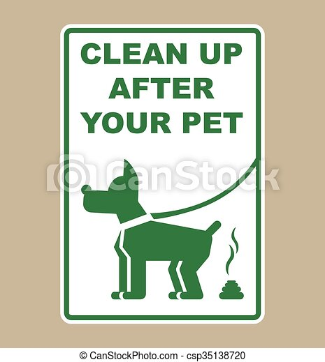 Clean Up After Your Pet Sign  - csp35138720