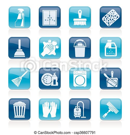 Cleaning and Hygiene icons - csp36607791
