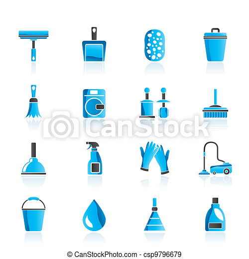 Cleaning and hygiene icons - csp9796679