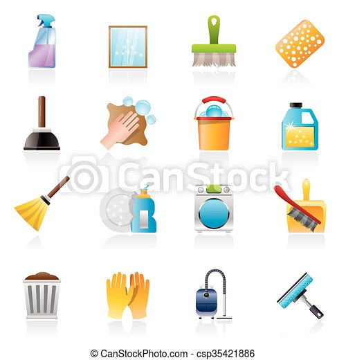 Cleaning and Hygiene icons - csp35421886