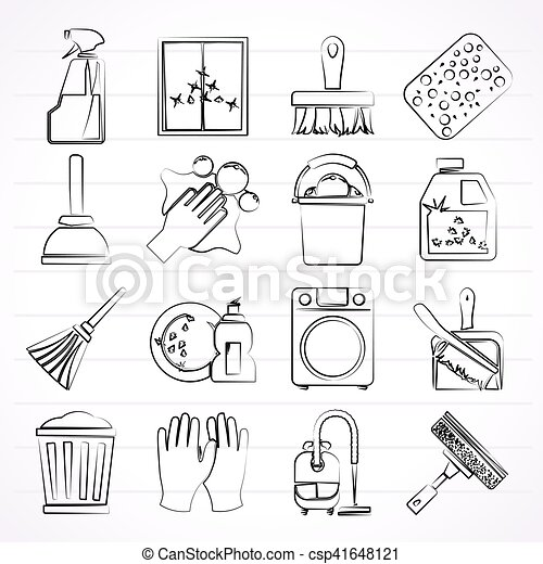 Cleaning and Hygiene icons - csp41648121