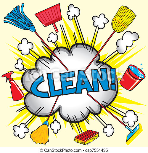 Cleaning Cloud - csp7551435