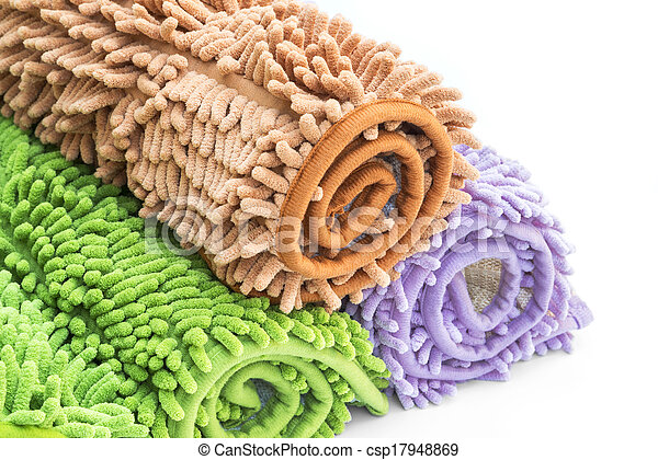 Cleaning feet doormat or carpet for clean your feet. - csp17948869