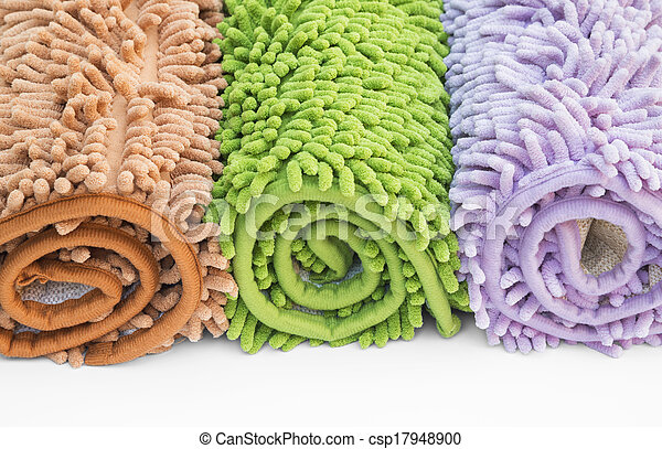 Cleaning feet doormat or carpet for clean your feet. - csp17948900