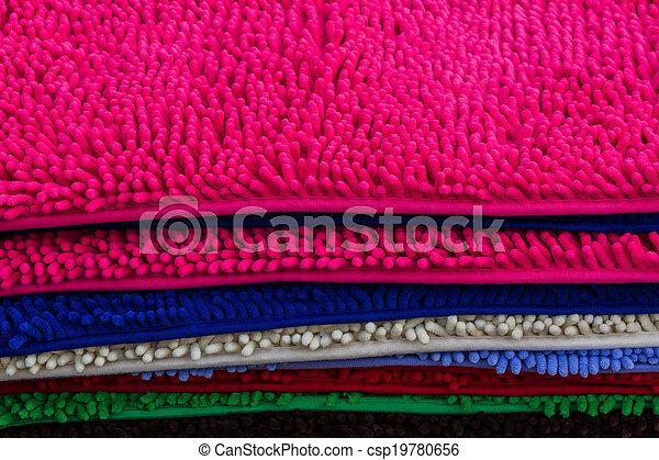 Cleaning feet doormat or carpet texture. - csp19780656