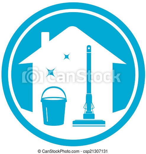 cleaning house icon - csp21307131