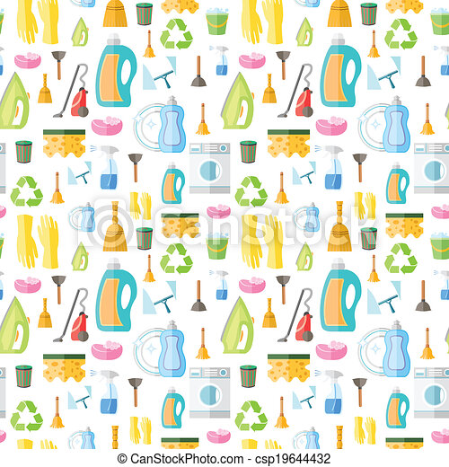 Cleaning icon seamless pattern - csp19644432
