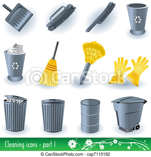 Cleaning Icons 1 - csp7110182