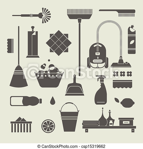Cleaning icons - csp15319662