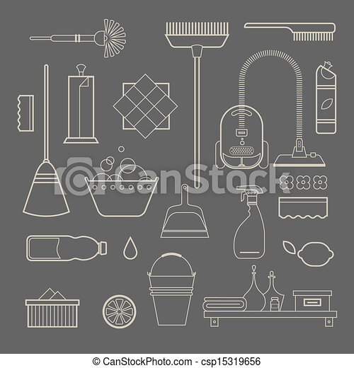 Cleaning icons - csp15319656