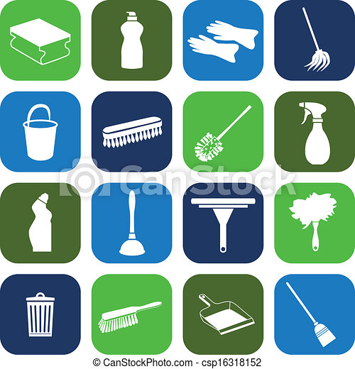 cleaning icons - csp16318152