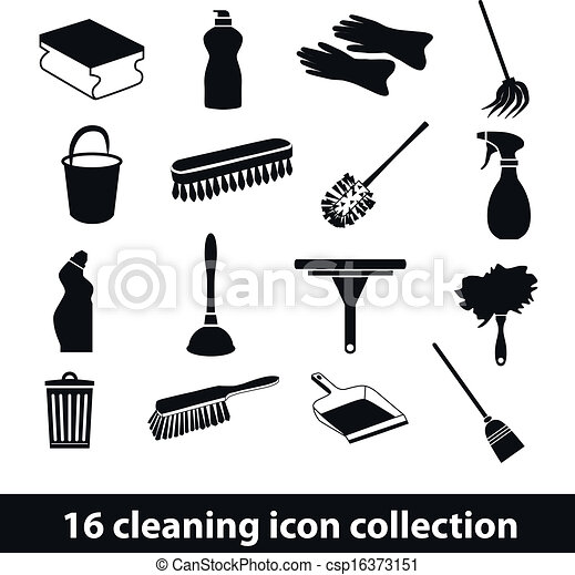 cleaning icons - csp16373151