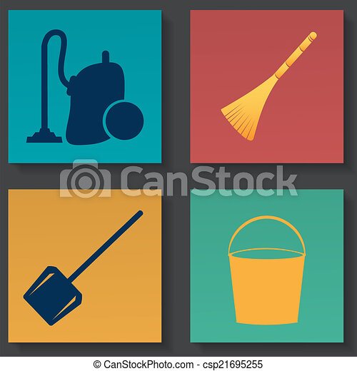 Cleaning icons - csp21695255