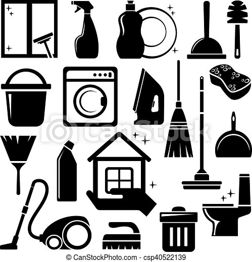Cleaning icons - csp40522139