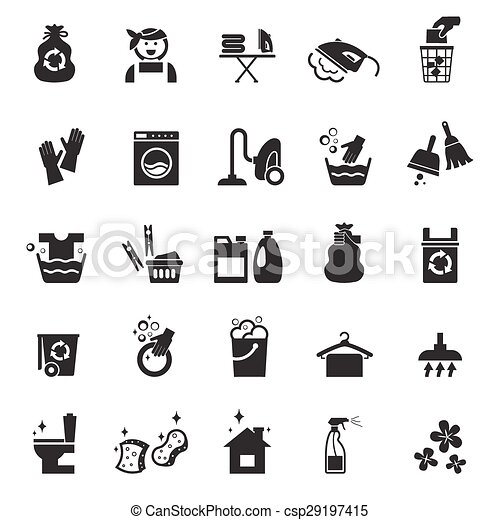 Cleaning icons - csp29197415