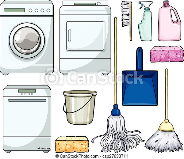 Cleaning objects - csp27633711