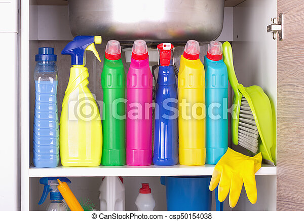 Cleaning product storage space - csp50154038