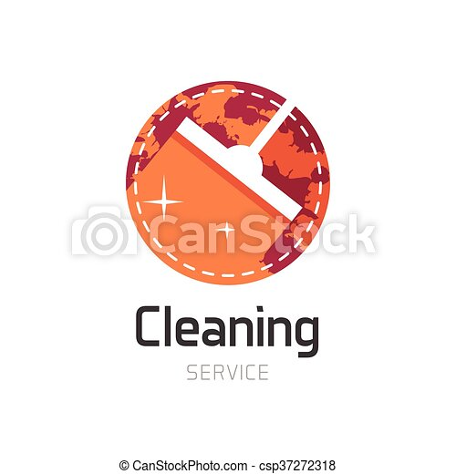 Cleaning service logo symbol - csp37272318
