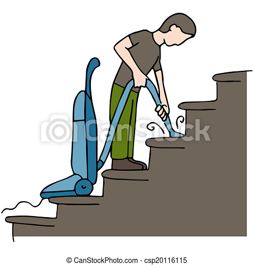 an image of a man cleaning stairs vector clip art search rh canstockphoto com clipart stars in the sky clipart stairway to heaven
