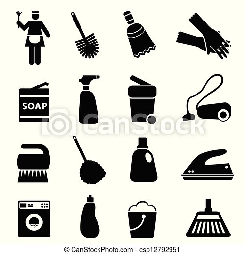 Cleaning supplies and tools - csp12792951