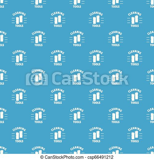 Cleaning tools pattern vector seamless blue - csp66491212