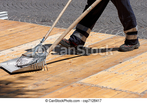 cleaning up outdoors - csp7128417