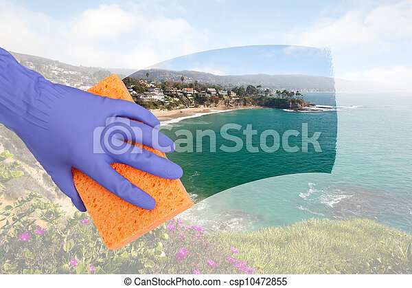 Cleaning windows - csp10472855