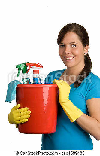 cleaning woman - csp1589485