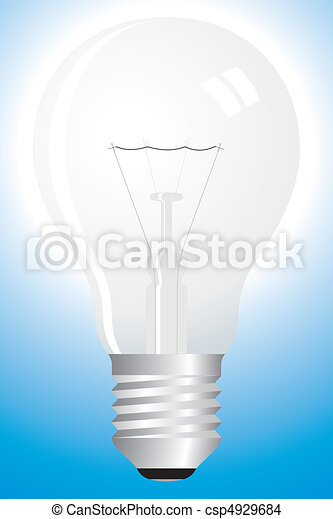 Clear bulb on blue - csp4929684