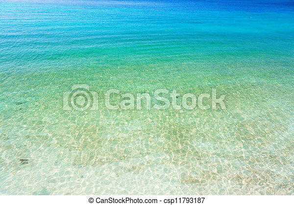 clear ocean water - csp11793187