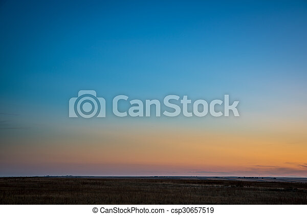 clear sky after sunset in Colorado - csp30657519