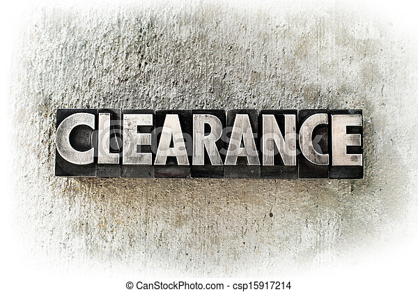 Clearance - csp15917214