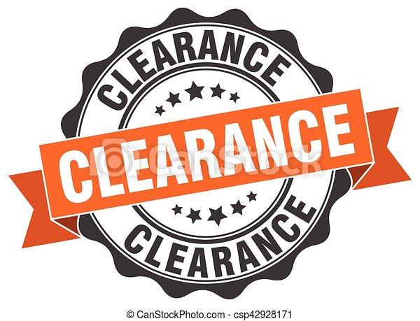 clearance stamp. sign. seal - csp42928171
