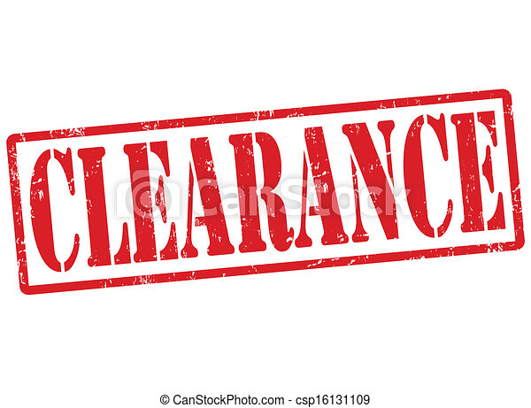 Clearance stamp - csp16131109