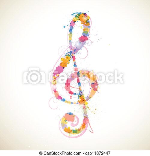 clef, coloridos - csp11872447