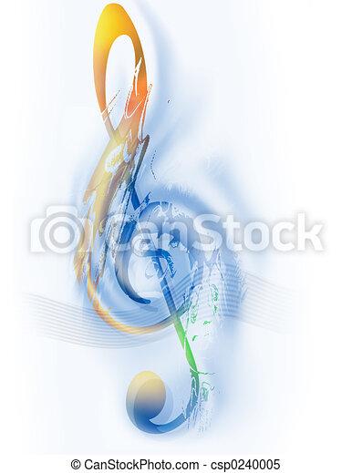 clef treble, -, música - csp0240005