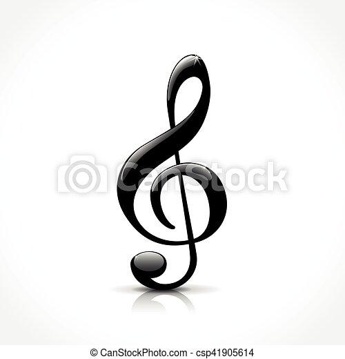 clef triple, icône - csp41905614