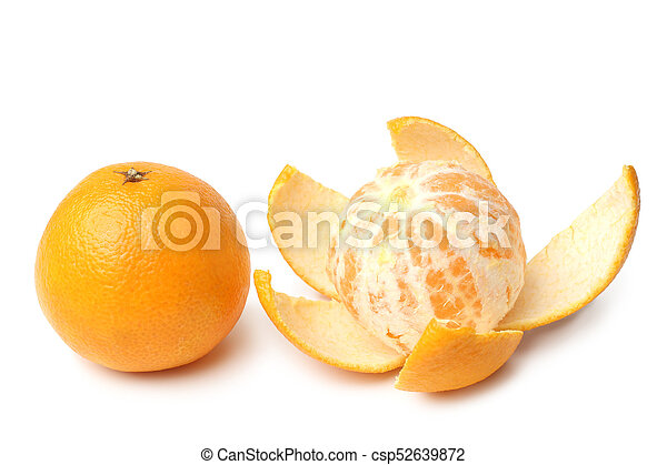 Clementines whole and peeled - csp52639872