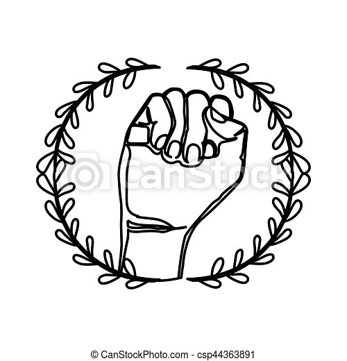 Clenched Fist Symbol Icon Vector Illustration Graphic Design Eps