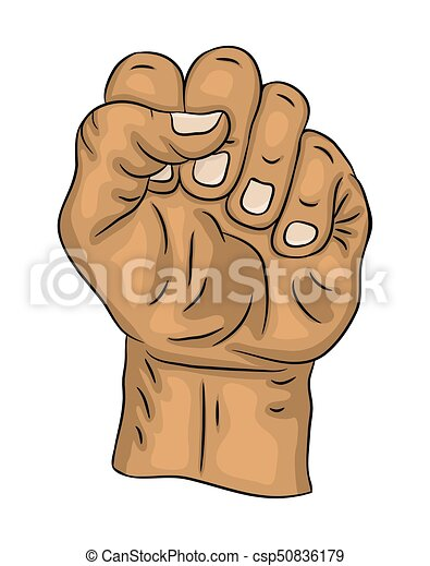 Clenched Fist Vector Symbol Icon Design Beautiful Vectors