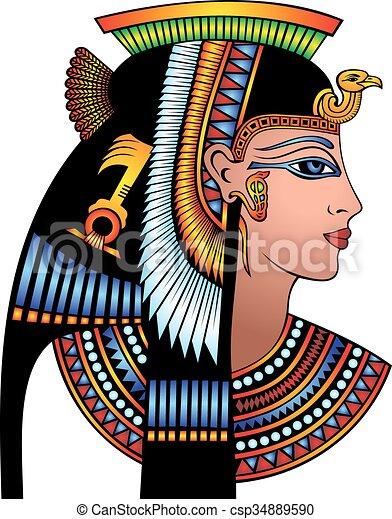 cleopatra, huvud, specificera - csp34889590