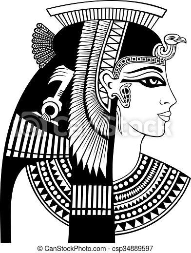 cleopatra, testa, dettaglio - csp34889597