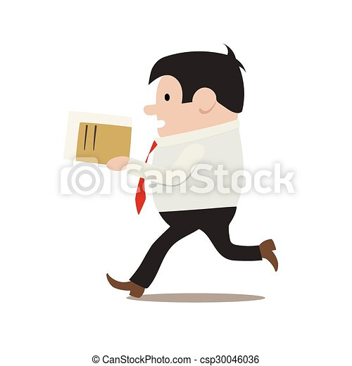 clerk in a hurry - csp30046036