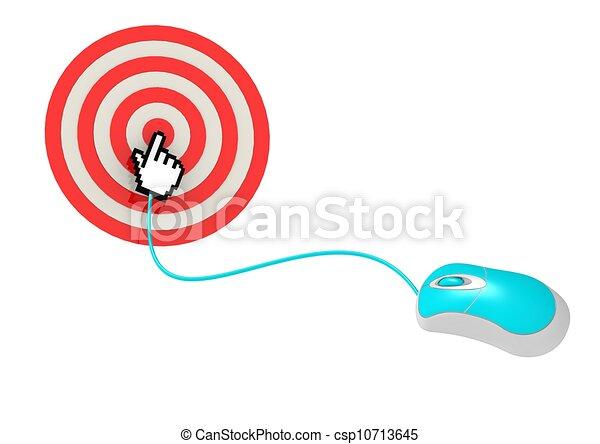 Haz clic en el blanco - csp10713645
