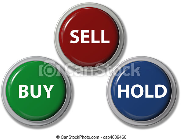 Click BUY SELL HOLD financial buttons - csp4609460