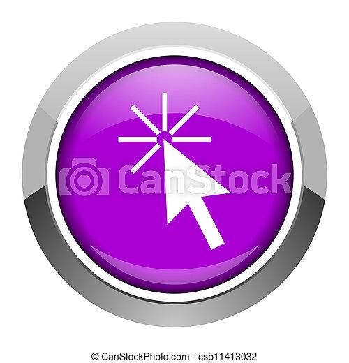 click here icon - csp11413032