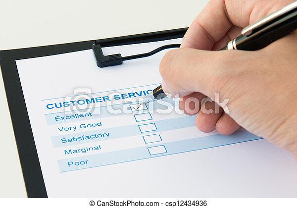 client, évaluation, formulaire - csp12434936