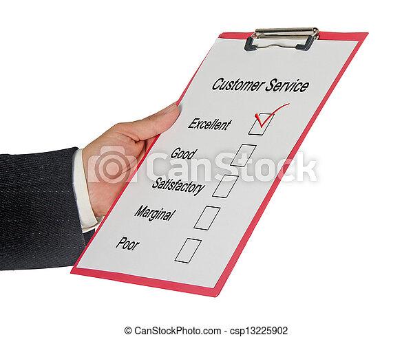 client, évaluation, service - csp13225902